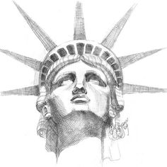 statue of liberty face #statue #of #liberty #sketch