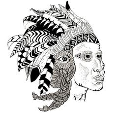 Art Print #indian #illustration #drawing #blackwhite