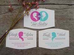 Two Sisters Photography #business #branding #design #type #cards