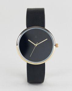 ASOS | ASOS – Minimalistische Uhr in Gold und Schwarz