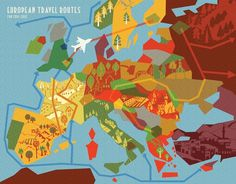 Google Image Result for http://illustratedmaps.info/wp-content/uploads/2011/11/Abi-Daker-Abstract-European-Map-2.jpg #map #abstract #geometr