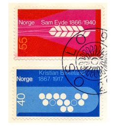 vintage stamps norway