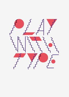 The Design Blog #circle #geometry #zigzag #design #graphic #shapes #triangle #play #type #wavy #typography