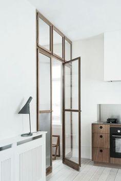 Wood framed glass door. Photo by Heidi Lerkenfeldt. #door #glassdoor #heidilerkenfeldt