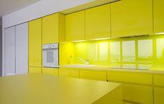 Cheerful Apartment in Krakow by PERA studio Photo #interior #design #yellow #decor #kitchen #deco #decoration