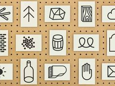 Marks and symbols - Massdison Graphic #flat #marks #icons #symbols
