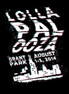 Lollapalooza music festival poster