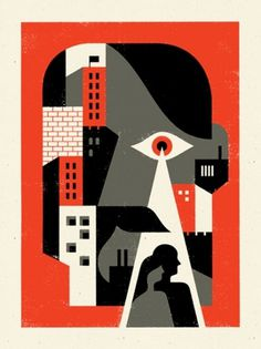 "Doublenaut | Blog: ‎""Big Brother Is Watching You"" #doublenaut #matt #illustration #poster #1984 #mccracken #andrew"