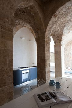 Kevin H. Chung #interior #home #arches #kitchen #architecture