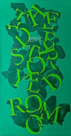 Typeverything.com poster for The Destroyed Room by Michiel Schuurman. #poster