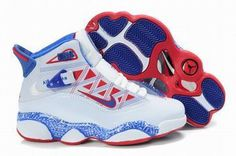 Air Jordan 6 Rings Retro White/Blue/Red Kids's #shoes
