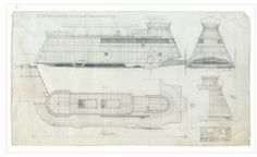 Architecture Photography: Blueprints of the Star Wars Galaxy - Blueprints of the Star Wars Galaxy (2) (164032) - ArchDaily #star wars #drawi
