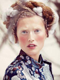 Toni Garrn by Alexi Lubomirski for Vogue Germany #alexi #lubomirski #tori #garrn