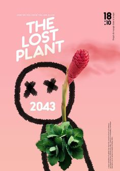#cover #poster #pink #abstract #design #doodle #plant