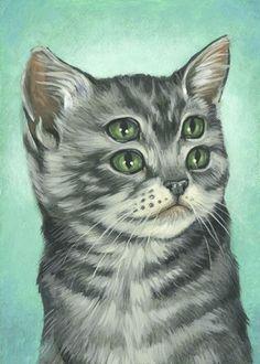 tumblr_lcnt1l90io1qz6f9yo1_500.jpg (480×672) #eyes #illustration #cat