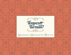 Tempestt - details #business #card #mint #vintage #type #blue