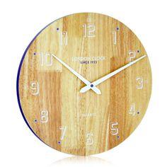 London Clock Company 'Drift' Soild Wood Wall Clock, 35cm