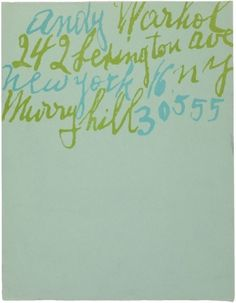typography #andy #design #warhol #letterhead #typography