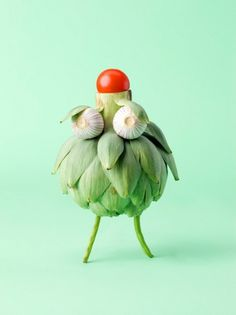 Carl Kleiner #faces #food