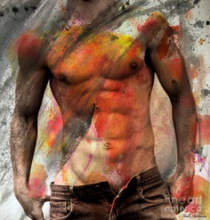 Male Nude Painting - Dont Explain  by Mark Ashkenazi