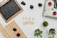 Yoga composition with lettering Free Psd. See more inspiration related to Mockup, Spa, Health, Cute, Yoga, Chalkboard, Mock up, Plant, Decoration, Drawing, Cactus, Bamboo, Healthy, Decorative, Peace, Lettering, Mind, Balance, Draw, Relax, Pot, Meditation, Wellness, Healthy lifestyle, Candles, Lifestyle, Up, Tablecloth, Stones, Relaxation, Composition, Mock, Peaceful and Inner on Freepik.