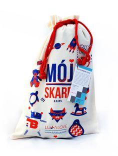 kocyki bambusowe | LULLALOVE #treasure #bag #print #sack