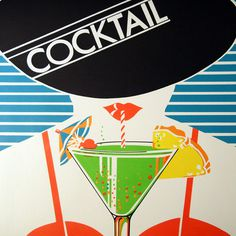 vintage '80s place mat detail. #illustration #vector #cocktail