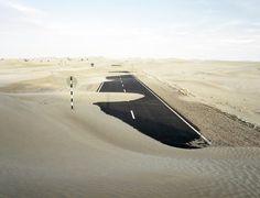 100k #wind #runway #road #abandoned #sand #ruins #desert