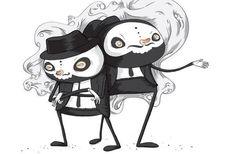 Mafia Guys #illustration #mafia #skulls