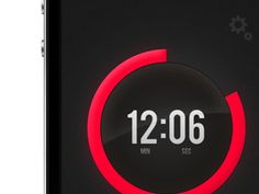 Dribbble - Timer app for iPhone by Lorenz Wöhr #app
