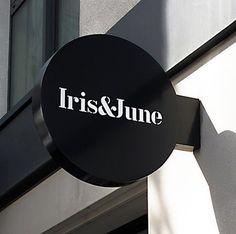 Iris & June identity #logo #typography #stencil #proudcreativecom