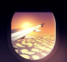 Réflexions faites on Behance #clouds #fly
