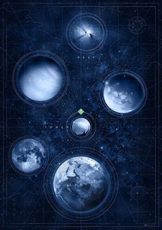 Destiny: Map of the Heavens by Doaly #planets