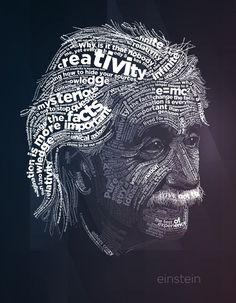 Albert Einstein #alber #han #dlettering #einstein #portrait #typography