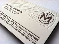 Landman Business Card on the Behance Network #business #card #letterpress #pershern #press #on #identity #studio #fire #cards