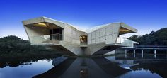 architecture Stamp house Sci Fi Looking Residence With Bridge Access in Australia: Stamp House