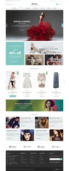 fashion, concept, web design, website, layout