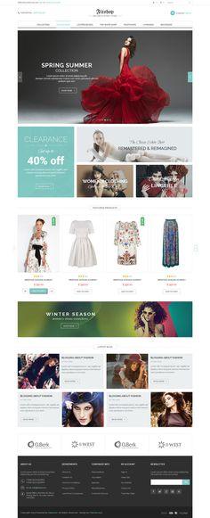 fashion, concept, web design, website, layout