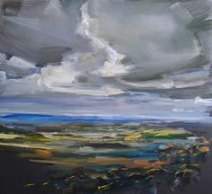 Paul Williams, Windy Harbour (2012) #dark #painting #landscape