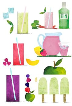 Sara Strand › Graphic Designer #beverage #illustration #fruit