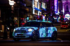 MINI art beat lets you stream yourself live in london #interactive #car #led