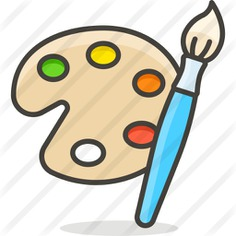 See more icon inspiration related to art, art and design, paint palette, painter, palette, artistic, artist and painting on Flaticon.