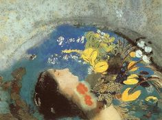 Redon-Ophelia.jpg 640×477 pixels #illustration #redon #drawing #painting
