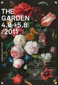 Allan Nederpelt Collection of Shows Posters & Advertisements | meta.matic #photography #painting #poster #flowers #typography