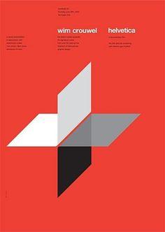 Wim Crouwel helvetica poster #helvetica #poster #wim crouwel #red