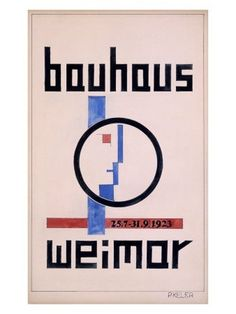 Weimar Bauhaus Poster.jpg 338×450 pixels #bauhaus #poster