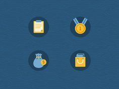 Icons #blue #icons #gold