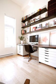 Our home: office #interior #white #office #space #working #minimalist #light