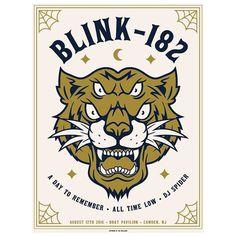 Blink-182 Camden, NJ Poster