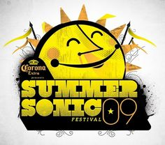 SUMMER_SONIC_3_FINAL_YELLOW copy.jpg 670×593 pixels #branding #cory #illustration #logo #schmitz